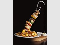 Mega skewer for 2 persons